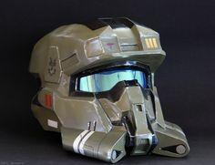 Home made Halo helmet.