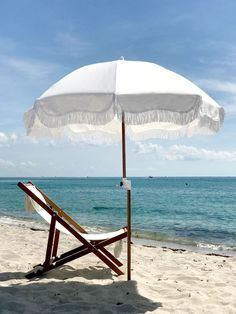 Chic fringed Beach Umbrella by Business & Pleasure Co