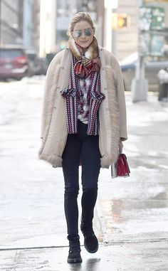 Olivia Palermo from The Big Picture Mad for plaid! The star is spotted braving the snow in New York City.