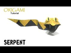 Origami Serpent tutorial (Christophe Boudias) snake 折り紙 ヘビ оригами учебник змея - YouTube
