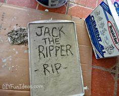 Halloween Craft: Make Concrete Tombstones in 10 Minutes!