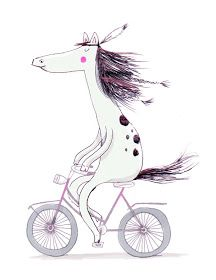 It's time to feel wild and free on the bike again! This week's topic at Illustration Friday seemed just fitting.