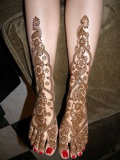 Mehndi Design for Legs 6