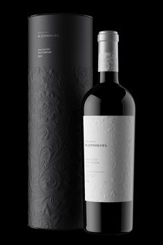 """Russian design bureau Unicorn Studio Moscow has created an identity design for top russian wine-maker Vedernikov Winery. Focus was placed on creating quality packaging for a high-quality product. The result? A design built around a traditional Russian """"khokhloma"""" pattern using blind embossing."""