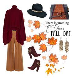 """Autumn days"" by marilyn-thompson on Polyvore featuring Martin Grant, Rosetta Getty, Lucky Brand, Aquazzura, Chloé and Betmar"