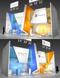 Integra exhibition stand on Behance Exhibition Stall, Exhibition Stand Design, Exhibition Display, Exhibition Ideas, Stage Design, Event Design, 3d Design, Design Ideas, Exibition Design