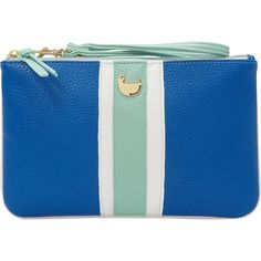 Buxton Prepster Pouch With Wristlet ($18) ❤ liked on Polyvore featuring bags, handbags, clutches, blue, ladies small wallets, ladies wallets, blue handbags, zipper handbag, blue clutches and buxton handbags