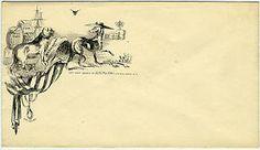 A dog caricature design adorns this U.S. patriotic cover envelope, dated around 1861-1865.