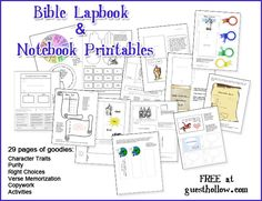 Bible Lapbook and Notebook Pages