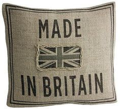 Made In Britain cushion