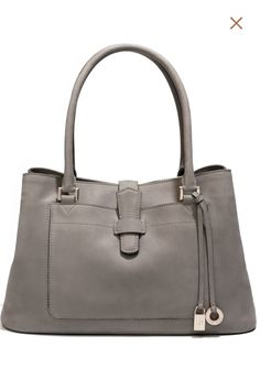 The most perfect bag in the most perfect color in the most perfect  material. The Loro Piana Bellevue Piccola in grey delon leather. 6f6ae132388d5