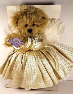 Angel Bear Annette Funicello Good Condition Goldie The 50th Golden Angel Bear