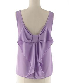 Love this Coveted Clothing Lilac Bow-Back Tank by Coveted Clothing on #zulily! #zulilyfinds