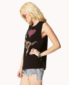 I Heart Dinosaurs Muscle Tee   FOREVER 21 - 2051823069