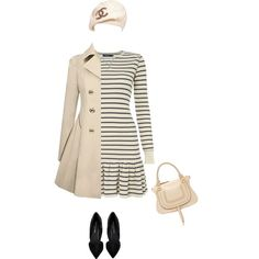 """Chanel beret hat"" by lenaick on Polyvore"