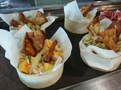 Karidesli pirinc salatasi, ensalada de gambitas y habas