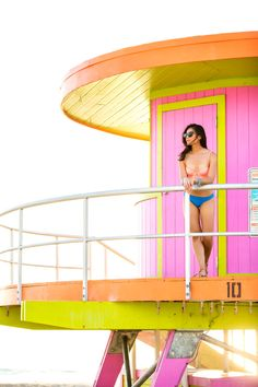 bright beach bikini and miami beach - Visit Stylishlyme.com to view more photos and get some styls tips on wear bright beach bikinis