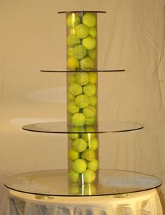Such a cool Tennis Theme Tower! Find more tennis ideas, quotes, tips, and lessons at Tennis Shop, Tennis Party, Play Tennis, Tennis Table, Tennis Lessons, Tennis Tips, Tennis Tournaments, Tennis Players, Tennis Decorations