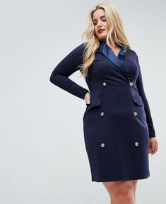 7 Best Plus Size Tuxedo Dresses images | Tuxedo dress ...