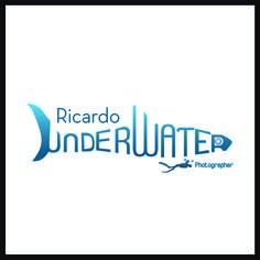 Logo para el fotógrafo submarino Ricardo Underwater, diseñado por Artesano Digital