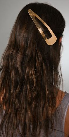 giant hair clip - good for the billion wispy hairs that result from high buns