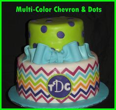 Multi-color Cake / chevron Cake / dots cake
