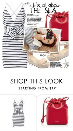 """""""Summer Dress - Stripes"""" by beebeely-look ❤ liked on Polyvore featuring Mansur Gavriel, Edition, Summer, stripes, summersandals, rosegal and Dressunder50"""
