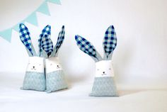 Modern baby bunny for boy Easter blue bunny rabbit bunny
