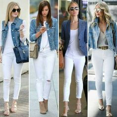 How to Always Look Stylish - Outfit inspiration - Winter Mode Mode Outfits, Chic Outfits, Spring Outfits, Fashion Outfits, Winter Outfits, Jeans Fashion, Fashion Clothes, Fashion Jewelry, Blue Jean Outfits