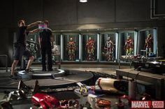 First image from Iron Man 3. Look at all the armour