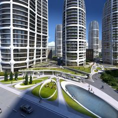 Bratislava Culenova New City Center Proposal / Zaha Hadid Architects