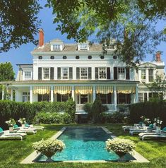 All Posts • Instagram Coastal Style, Coastal Living, Style Me Pretty Living, White Houses, Pool Designs, Historic Homes, Traditional House, Exterior Design, Swimming Pools