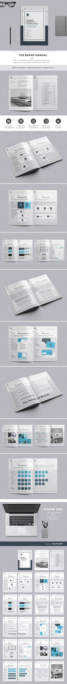 TECNOLOGIA DISEÑO ejemplo manual de identidad corporativa - professional manual template
