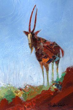 Antelope Original Painting Shelli Walters