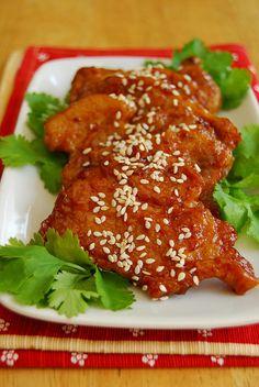 peking pork chops, recipe adapted from Rasa Malaysia