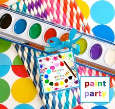 PAINTING  ART Birthday Party Customized by Bella Bella Studios ~ Let these fun…