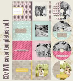 CD/DVD label and DVD cover templates vol.1 by 7thavenuedesigns, $30.00