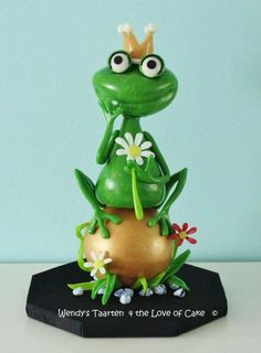 sugar frog prince  - Cake by Wendy Schlagwein