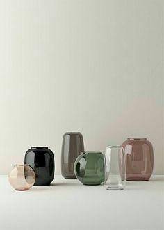 Hand Blown Glass, Form Vases by Lyngby Porcelæn Wabi Sabi, Interior Accessories, Interior Styling, Color Inspiration, Interior Inspiration, Bedroom Minimalist, Glass Ceramic, Vintage Design, Glass Design