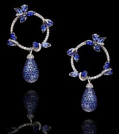 The Jewel Closet: Stunning Sapphire earring by LEVIEV jewelry