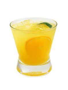 Gold Screwdriver (2 oz. Russian Standard Gold Vodka 2 mango slices 1 lime wedge ½ oz. simple syrup 1 orange, juiced)