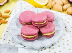 Just the right amount of sweet! Passionfruit Macarons by Vallery Lomas! Don't miss Home & Family weekdays at on Hallmark Channel! Cookie Recipes, Dessert Recipes, Desserts, Powdered Food Coloring, Macaroon Recipes, Dessert Decoration, Dessert Table, Protein Shake Recipes, Cookie Time