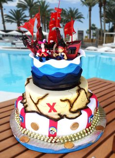 Jake and the Pirates Cake Torta de Jake y los Piratas