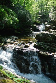 Skinny Dip Waterfall in Transylvania County, NC