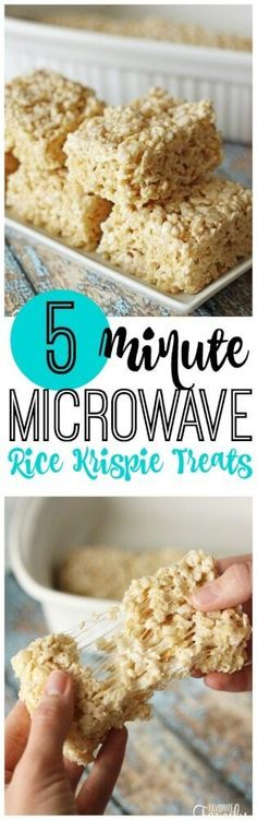 These Microwave Rice Krispie Treats are foolproof and turn out perfect every time. They are never hard or dry. Less mess than making them over the stove! #ricekrispietreats #microwaverecipe