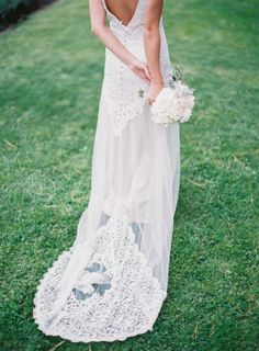 A dreamy dress: http://www.stylemepretty.com/little-black-book-blog/2015/05/05/posh-grey-gold-provencal-wedding-inspiration/ | Photography: Greg Finck - http://www.gregfinck.com/