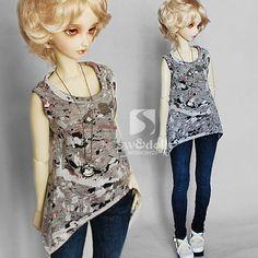 BJD doll clothing vest [ink] 1/3LUTS.DOD.AS.DZ.SD dolls - Taobao