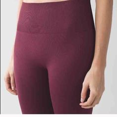 NWT Lululemon zone in tights in wineberry Super comfy, lifts your butt, fits nicely, thick strong material, and stretchy! They run small, so only buy if you were a size 4 in lululemon :) it is a size 6 but it truly is a size 4 which is why I listed that. I should have gotten an 8 because I'm a 6 in regular lululemon leggings. Comes with lululemon bag and tags. Would rather sell on ♏️ercari so please don't buy, just comment an offer and we can discuss  :) lululemon athletica Pants Ankle…