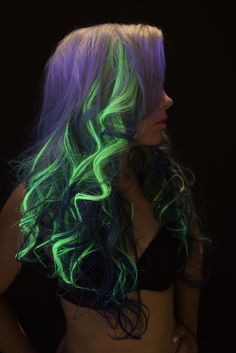 Glow in the dark hair