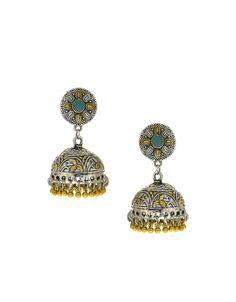 Anuradha Art Green Colour Classy /& Trendy Designer Oxidised Long Earrings For Women//Girls